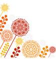 floral patterns and mandalas vector image