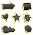 golden design element set vector image