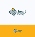 Smart money logo vector image