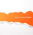 Torn paper banner vector image