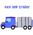 trailer with hand draw vector image