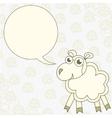 Cartoon sheep congratulates vector image