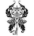 Key tattoo vector image
