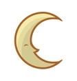 Cartoon moon icon Night concept graphic vector image