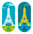 Flat design Eiffel tower vector image