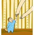 Child Mother Arms vector image