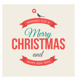 christmas card label vector image