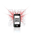 Phone scanned QR code vector image