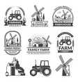 set of farm logos vector image