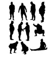 Sumo Activity Silhouettes vector image