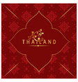 thailand bodhi leaves thai design red background v vector image