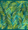 tropical leaves seamless pattern with texture vector image