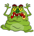 Ugly green monster cartoon vector image