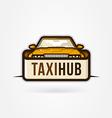 Taxi Hub icon vector image vector image
