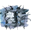 Abstract grunge texture with paint splatter vector image