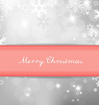 Christmas silver background with snow flakes and vector image vector image