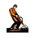 construction worker at work vector image