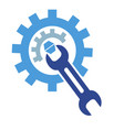 gear wrench logo vector image vector image