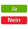 Ja and Nein Buttons vector image vector image