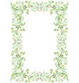 vintage frame with butterflies for your design vector image