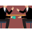 Businessmen Passing Money Under the Table vector image