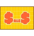 Sales draft style sticker vector image