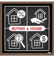 Doodle house icons set vector image