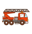 Fire truck isolated on white background vector image