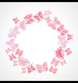 butterfly design ring shape vector image