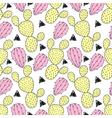 Cactus pastel seamless pattern. vector image