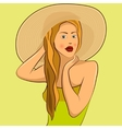 girl in the hat vector image