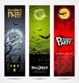 Halloween banners set design vector image