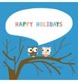 Happy holidays16 vector image