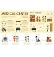 Medical Center concept Hospital infographic flat vector image