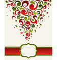 Ornate christmas gift card backgound vector image