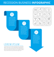 recession business 3 vector image