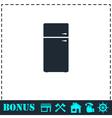 Refrigerator icon flat vector image