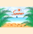 summer holidays beach seashore background vector image