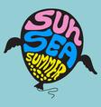 Sun Sea Summer - Set 10 vector image