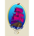 Tattoo ship color vector image