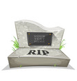 tombstone with rip inscription vector image