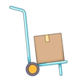 Warehouse trolley icon cartoon style vector image