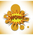 wow cartoon vector image