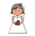 happy bride icon vector image