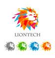 lion head logo design abstract lion logo vector image