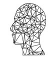 geometric head vector image