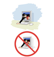 a thief stole information vector image