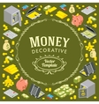decorating design made of objects related vector image