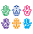 Hamsa hand Hand of Fatima - amulet protection vector image