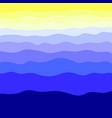 background landscape waves in the desert vector image
